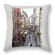 Rainy Day Shopping Throw Pillow