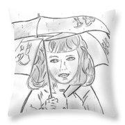 Rainy Day Smile Throw Pillow