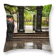 Rainy Destination Wedding In Jackson Square New Orleans Throw Pillow