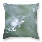 Rainy Drops Throw Pillow