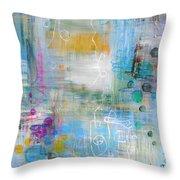 Rainy Garden Throw Pillow