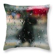 Rainy Morning Throw Pillow