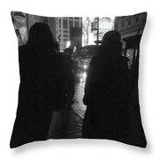 Rainy Night On Seventh - Duo Throw Pillow