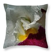 Rainy Orchid Throw Pillow