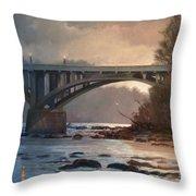 Rainy River Throw Pillow