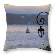 Rainy Sail Throw Pillow