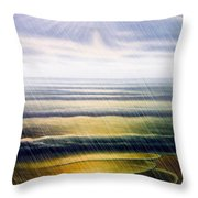 Rainy Seascape Throw Pillow