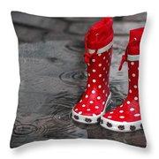 Rainy Season In Germany Throw Pillow