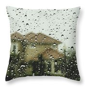Rainy Tropics Throw Pillow