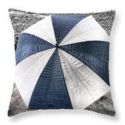 Rainy Umbrella Throw Pillow