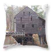 Rainy Yates Mill Throw Pillow by Kevin Croitz