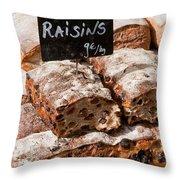Raisin Bread Throw Pillow