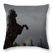 Raising Rainbows Throw Pillow