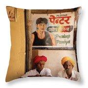 Life Of Rajasthan Throw Pillow
