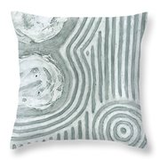 Raked Zen Whirlpool Throw Pillow