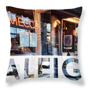 Raleigh At The Mecca Throw Pillow