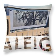 Raleigh At The Shimmer Tree Throw Pillow