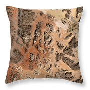 Ram Desert Transjordanian Plateau Jordan Throw Pillow