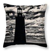 Ram Island Ledge Light Throw Pillow