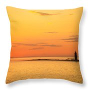 Ram Island Light Casco Bay Maine Throw Pillow