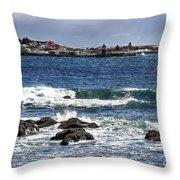 Ram Island Lighthouse Throw Pillow