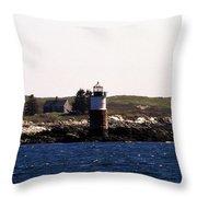 Ram Island Lighthouse In Maine Throw Pillow