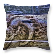 Ram On Ram Throw Pillow