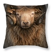 Ram Portrait Throw Pillow