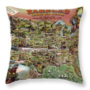 Rambles Through America Throw Pillow