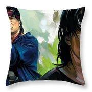 Rambo Artwork Throw Pillow