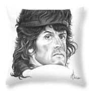 Rambo-sylvester-stallone Throw Pillow by Murphy Elliott