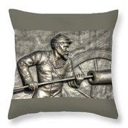 Ramming The Charge. Detail-c 1st New York Light Artillery Fitzhughs Battery K Gettysburg Throw Pillow