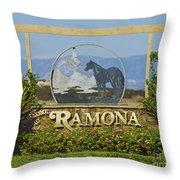 Ramona Welcome Throw Pillow