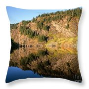 Rampart Ridge In Rachael Lake Throw Pillow