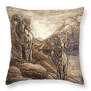Rams Relief Throw Pillow