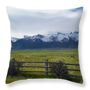 Ranch Beneath The Rubies Throw Pillow