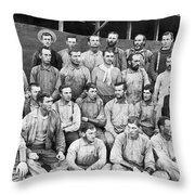Ranch Cowboys Portrait Throw Pillow