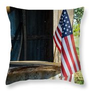 Ranch Flag Throw Pillow