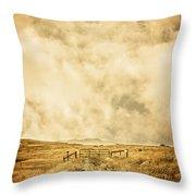 Ranch Gate Throw Pillow