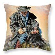 Ranch Hand Friends Throw Pillow