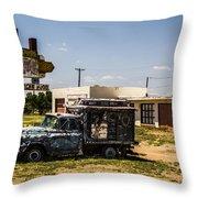 Ranch House Cafe Throw Pillow