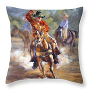 Ranch Rodeo Time Throw Pillow