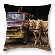 Ranch Transportation Throw Pillow