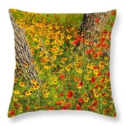 Ranch Wildflowers And Trees 2am-110522 Throw Pillow