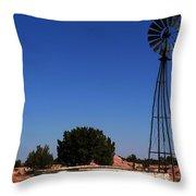 Ranch Windmill Throw Pillow