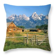 1m9392-ranchland And The Tetons Throw Pillow