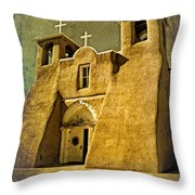 Ranchos Church In Old Gold Throw Pillow