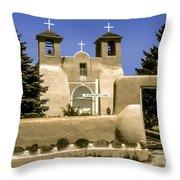 Ranchos De Taos Church Throw Pillow