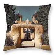 Ranchos Gate In Gum Bichromate Throw Pillow