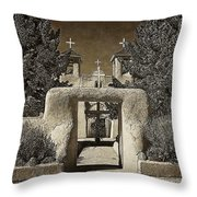 Ranchos Gate On Rice Paper Throw Pillow